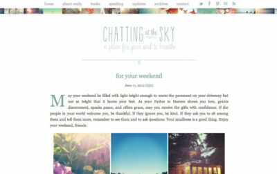 Chatting at the Sky - chattingatthesky.com