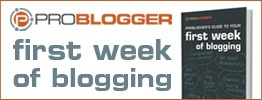 1st week blogging problogger