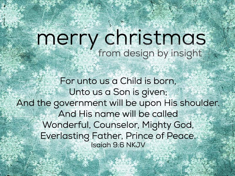 merry christmas from design by insight