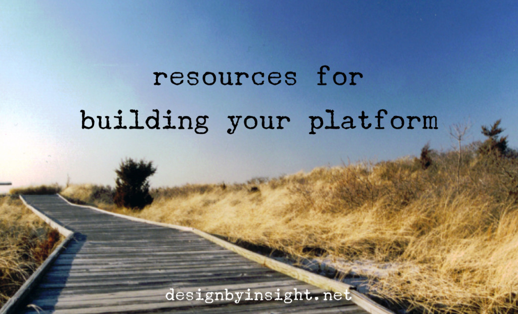 resources for building your platform - design by insight