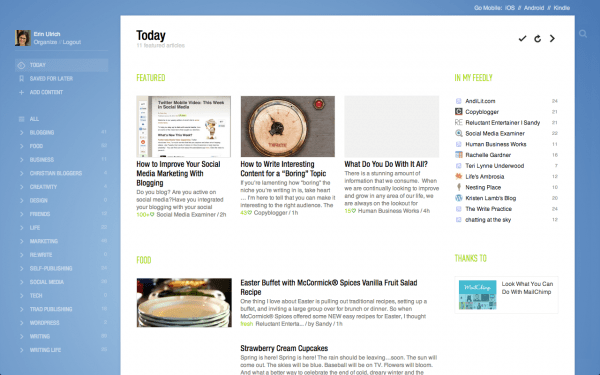 feedly title view - design by insight