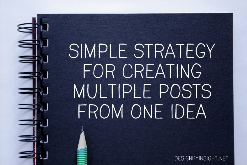 simple strategy for creating multiple posts from one idea