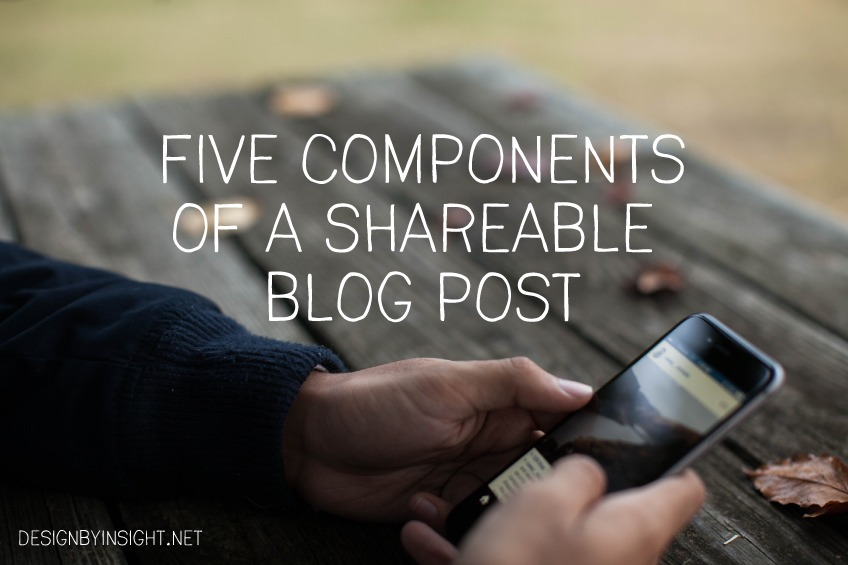 five components of a shareable blog post
