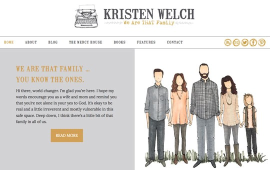 Kristen Welch, We Are THAT Family - Design by Insight